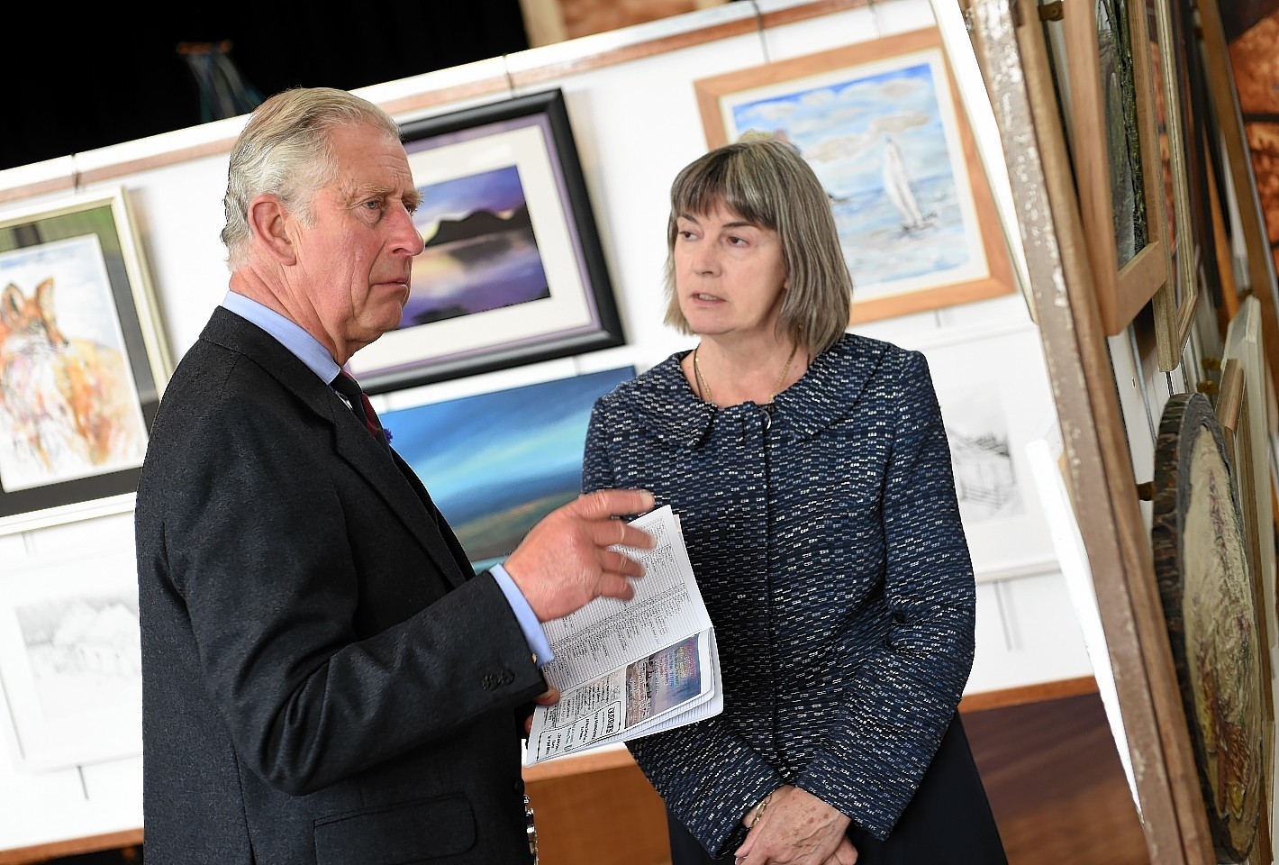 The Duke of Rothesay visiting the Society of Caithness Artists in 2015.
