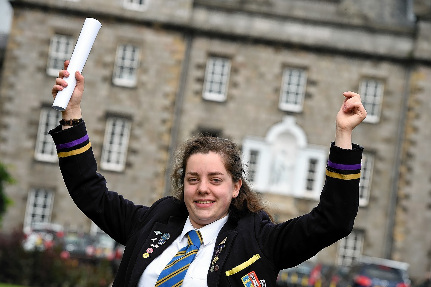 Robert Gordon's College pupil Alice Jaspars celebrates good results
