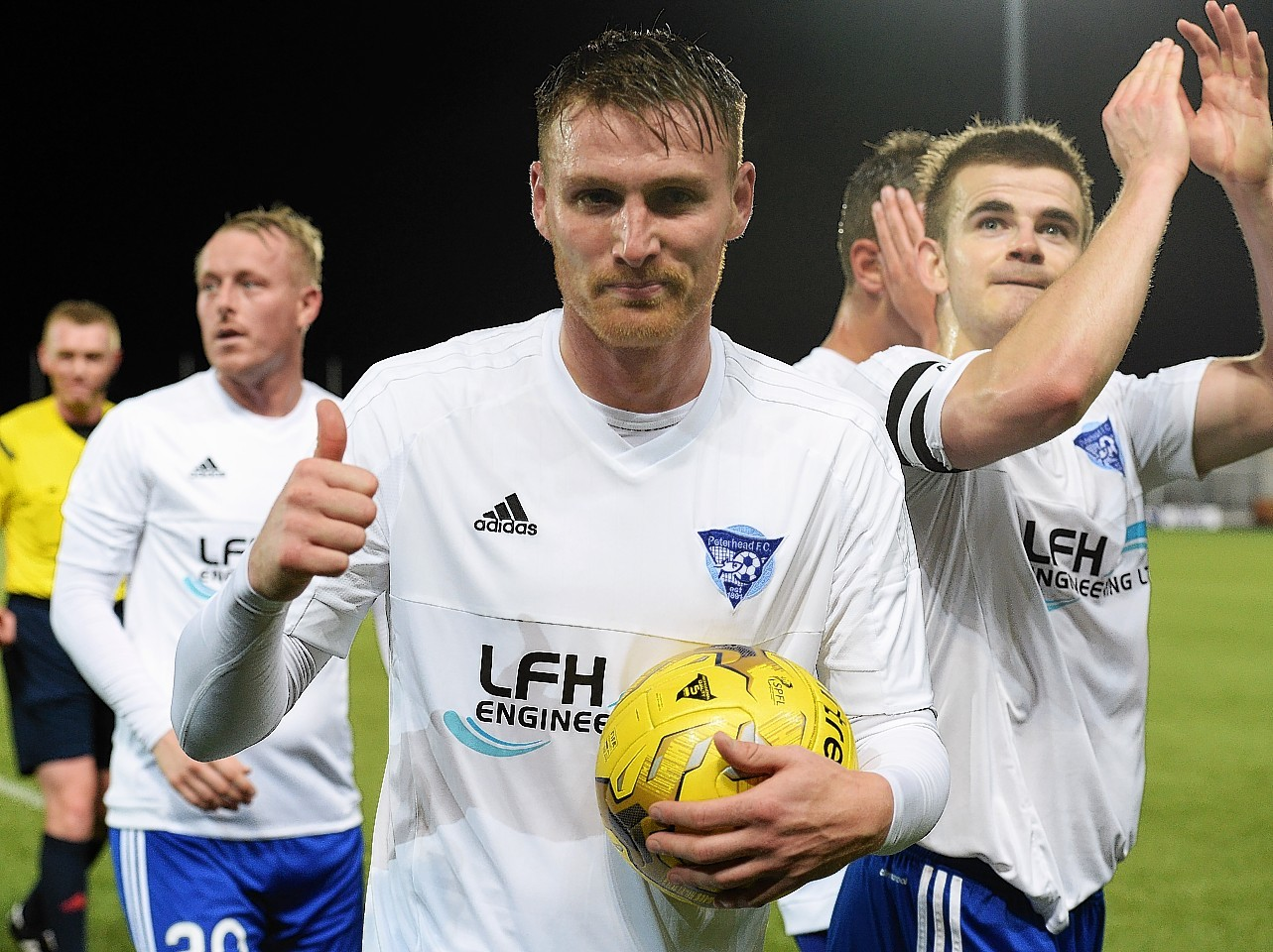 Rory McAllister: The Peterhead forward has scored in every round of the competition.