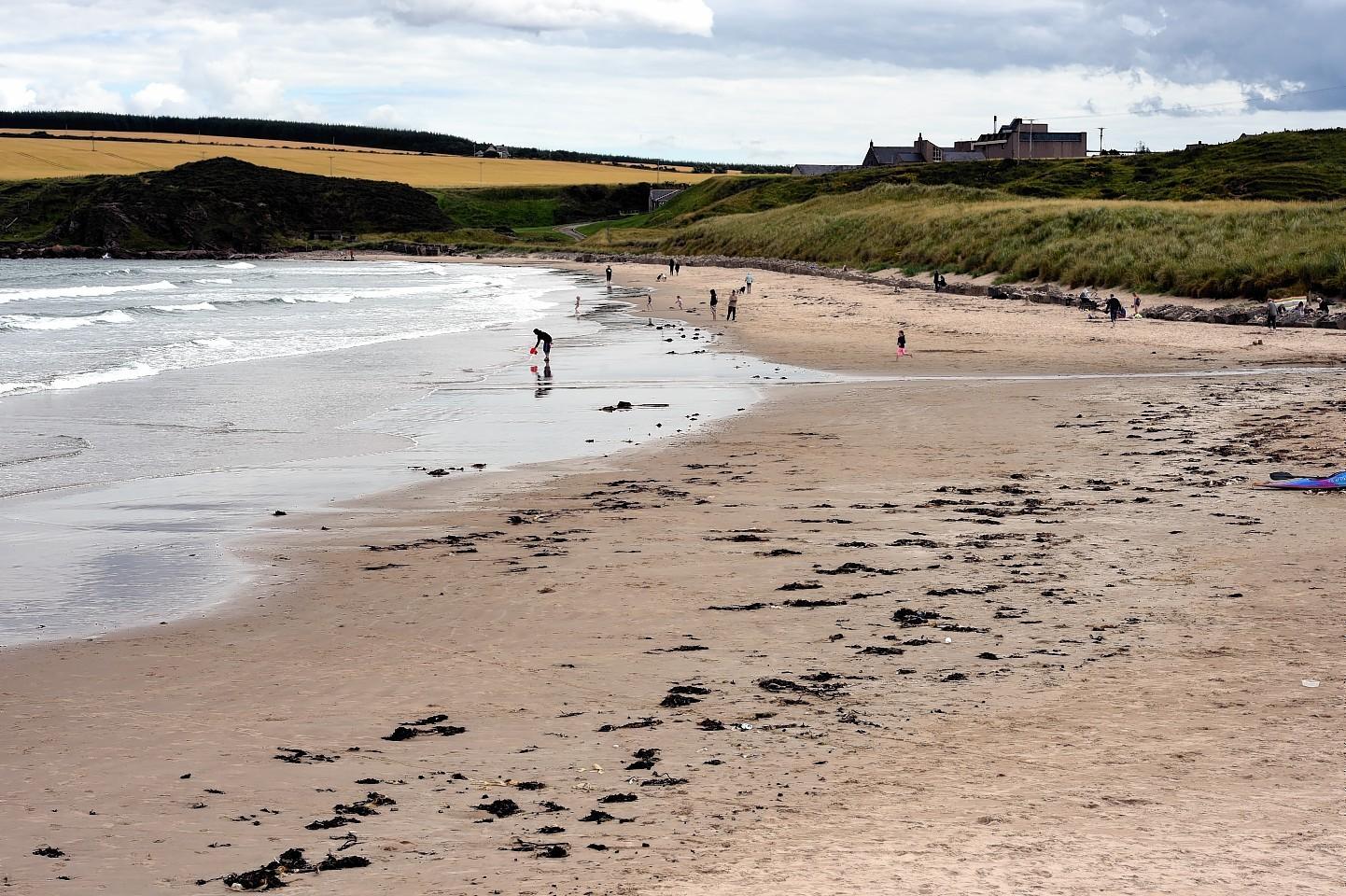 Sandend beach.