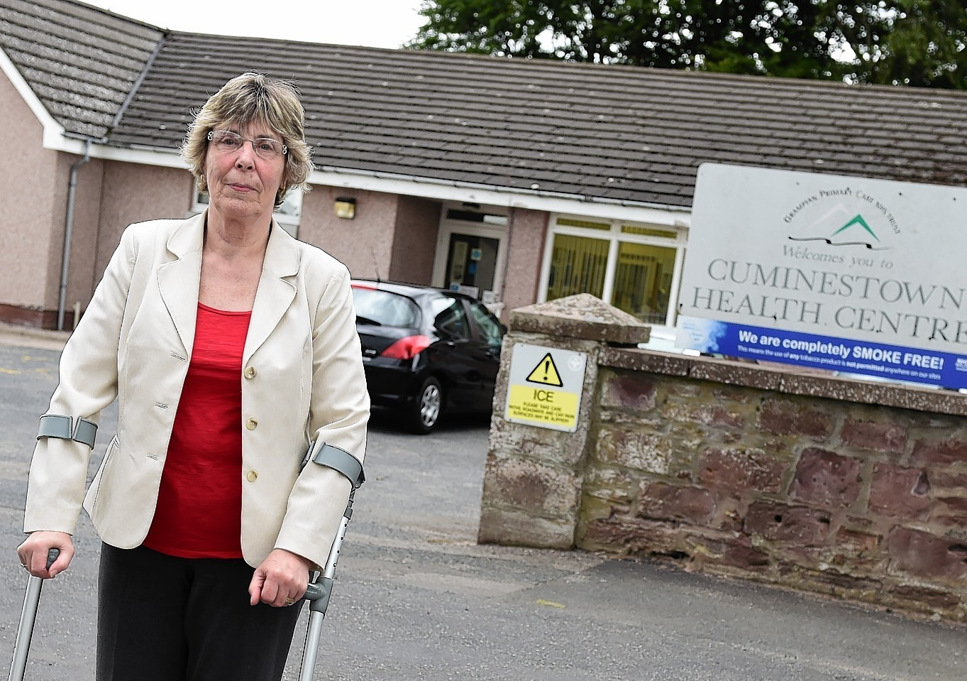 Susan Neal outside Cuminestown Health Centre. Picture by Kami Thomson