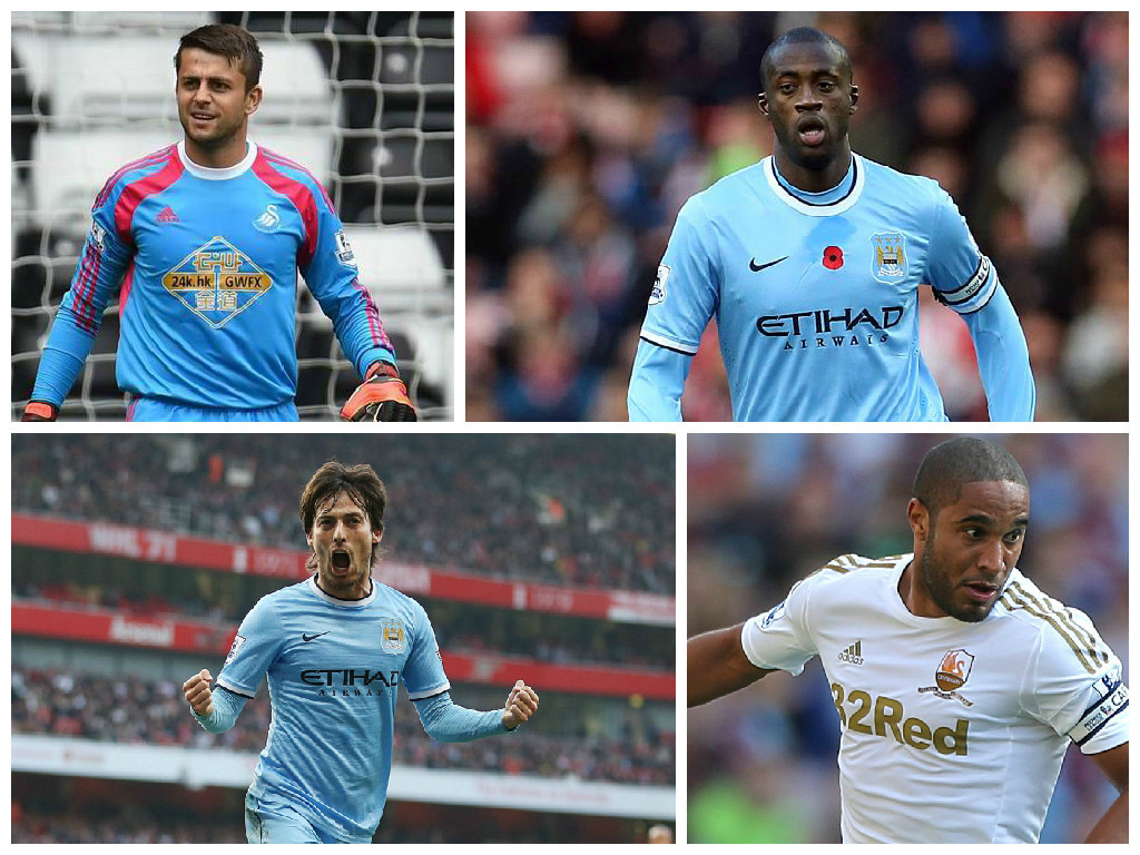 Swansea and Manchester City player play a rather big role in this week's team, with  Swans duo Fabianski, and Willams joining Toure and Silva of City in the team
