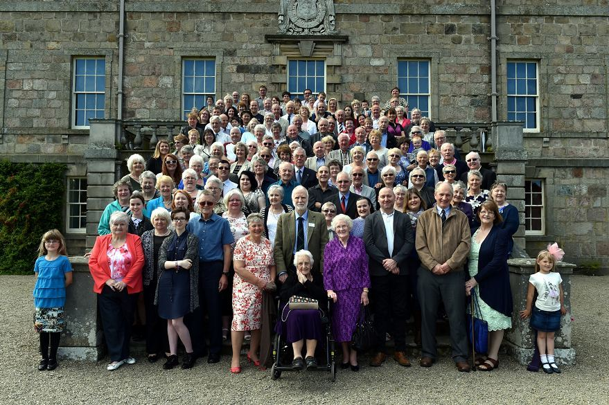 The 'Haddo Babies' and their families at the special anniversary event