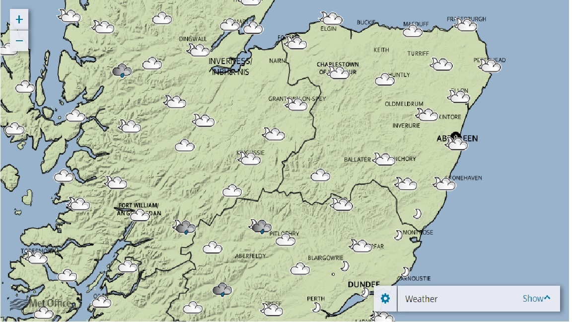 Scotland Weather Map.Bank Holiday Weather Forecast For North Of Scotland Press And Journal