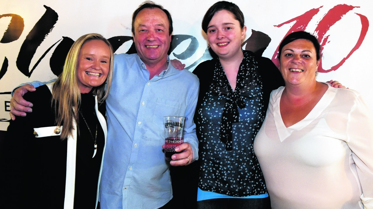 Angela Buchan, Sandy Wilson, Emma Adam and Lesley Wood.