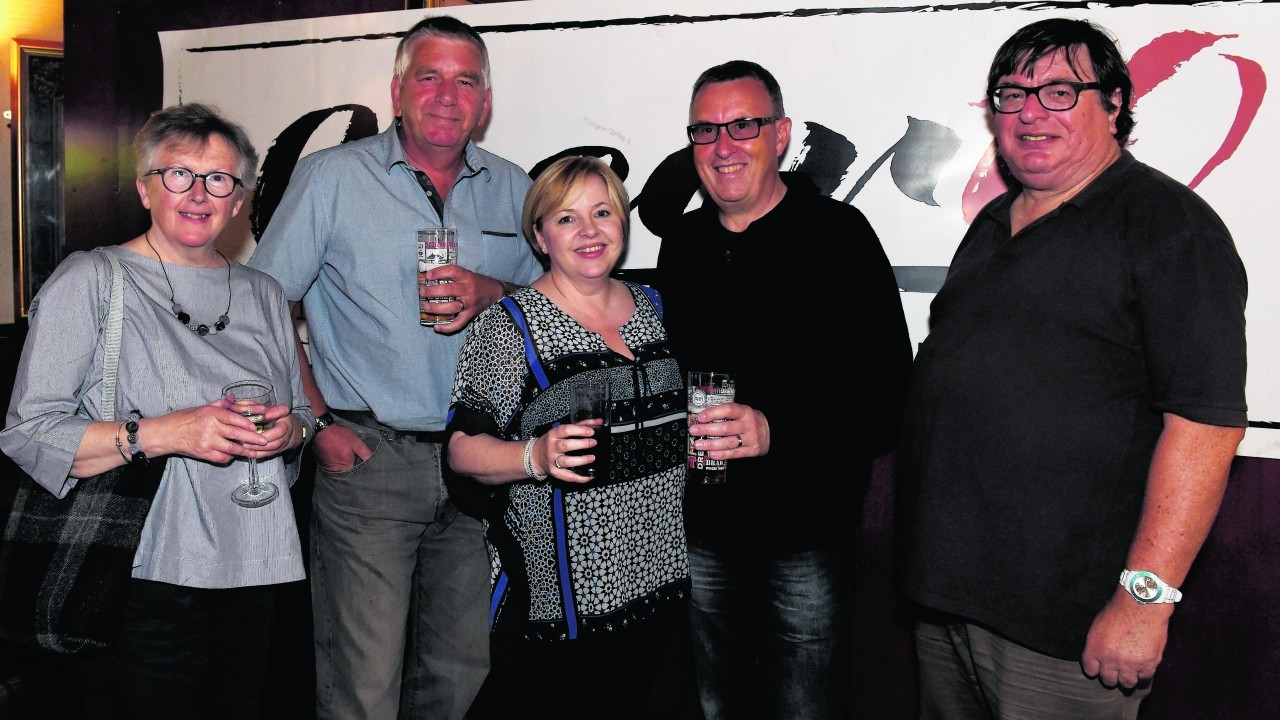 Christine Buchan, Alex Forbes, Fiona McWilliam, Derek McWilliam and Alan Smith. Picture by JIM IRVINE