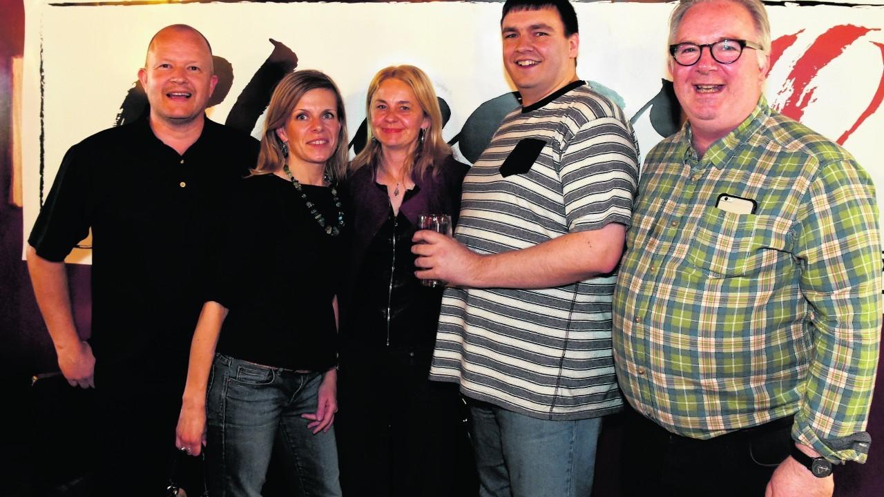 Jason Laidlaw, Kasia Nalaskowski, Yvonne Kotts, Chris Cran and Steve Smyth.