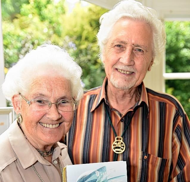 Meg and Joe Milne, who celebrated their Diamond Wedding Anniversary