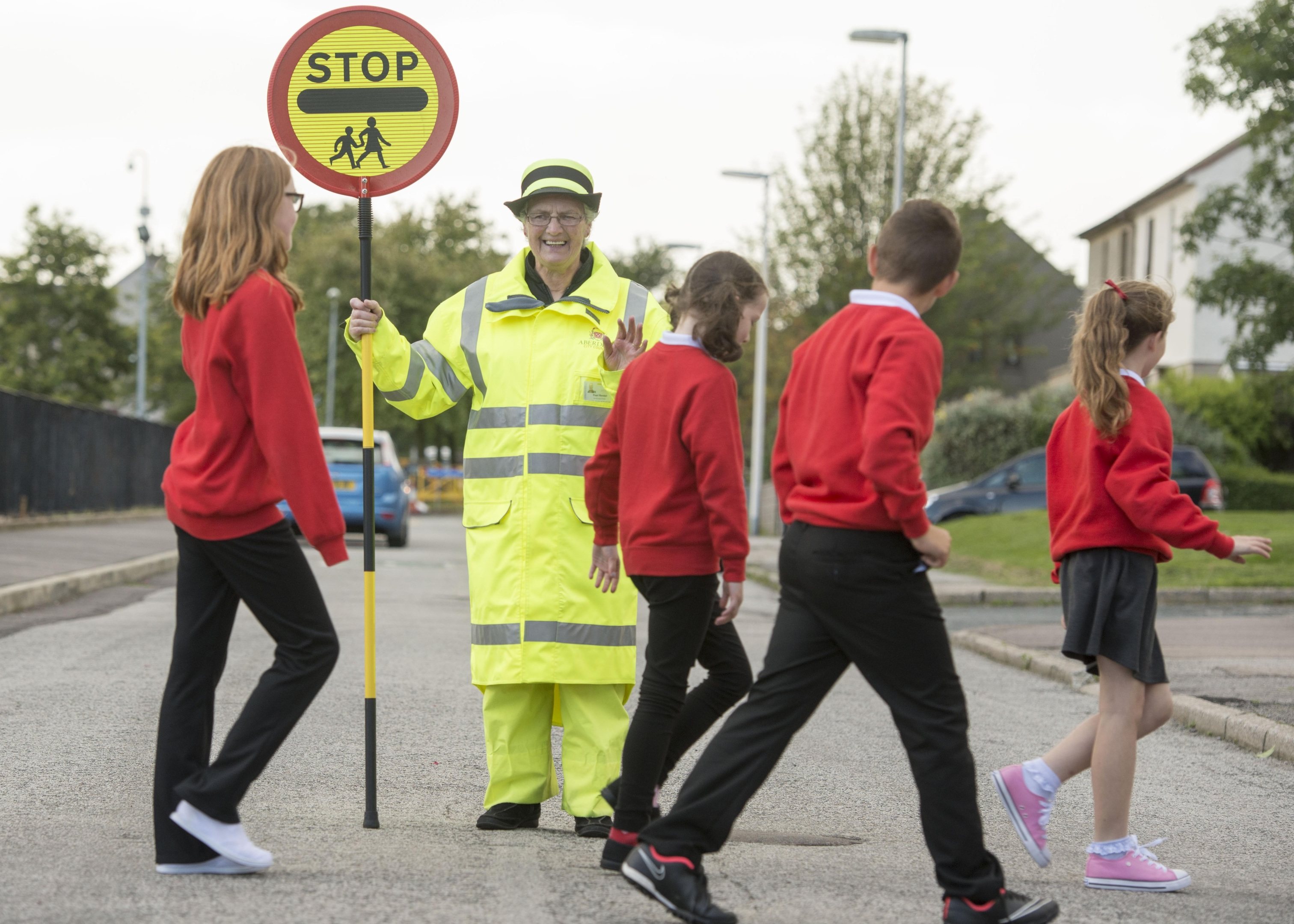 Pear Rendall is back to work after being crowned the best crossing patroller in Scotland