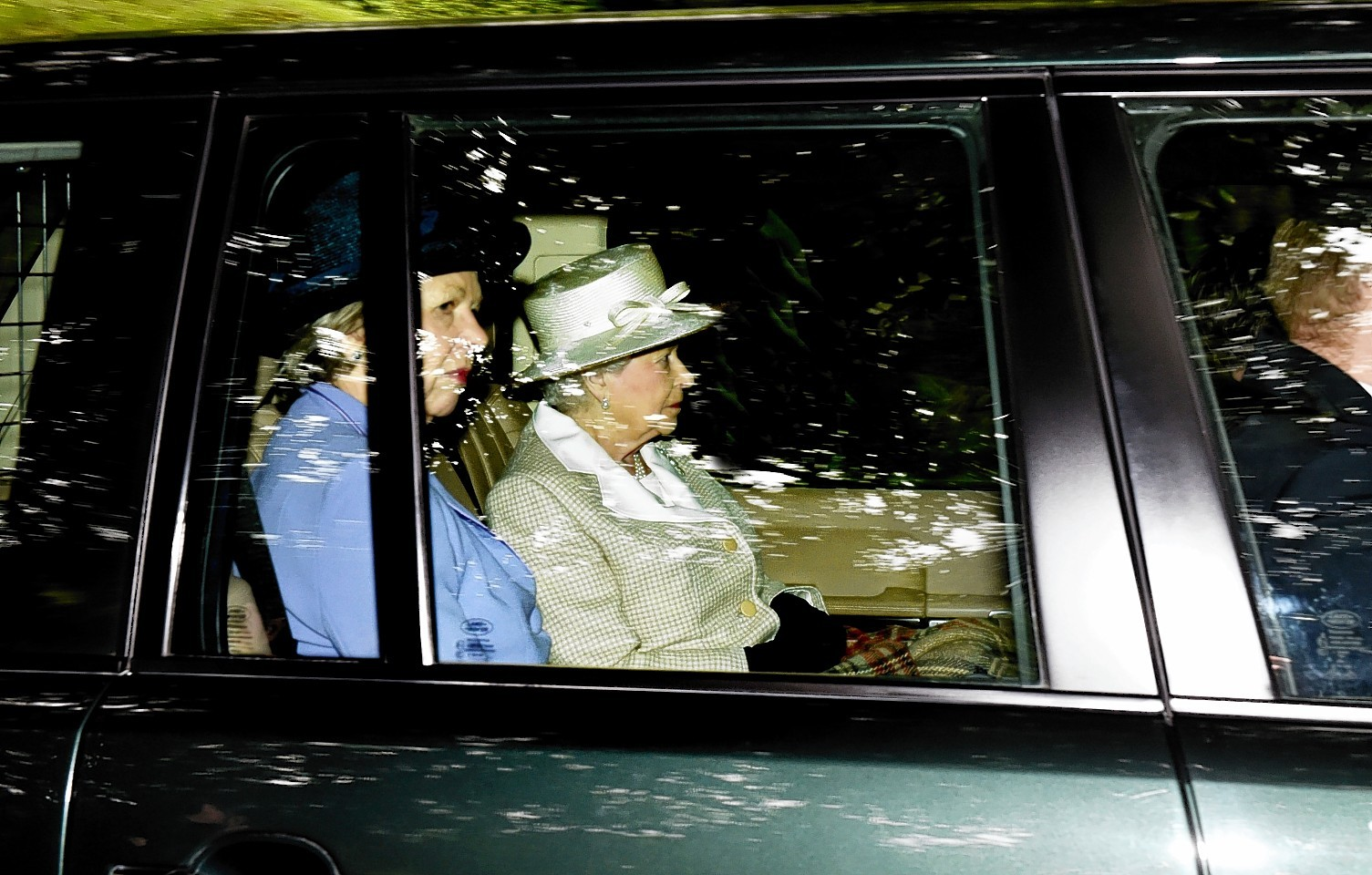 The Queen arrives at the church. Picture by Colin Rennie