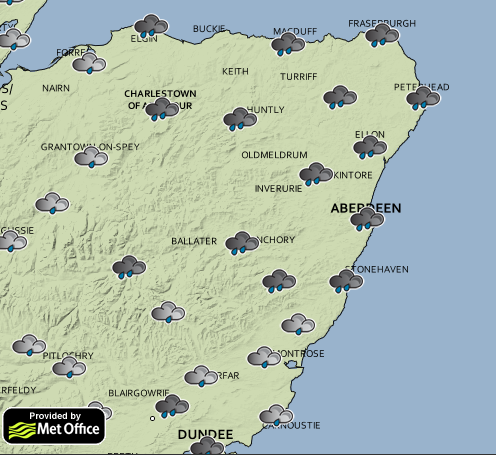 Plenty of rain can be expected across the north-east tomorrow