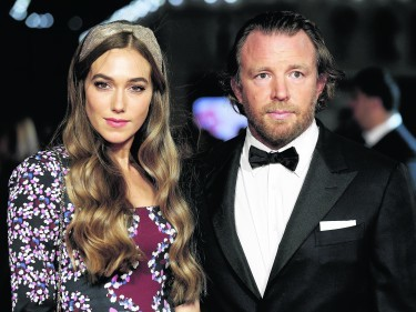 Ritchie with new wife Jacqui Ainsley