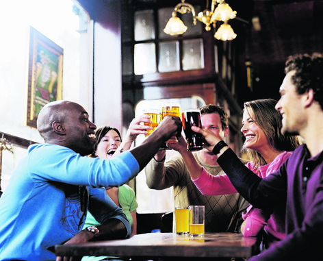 People who often drink just above the suggested amount increase their risk of ill-health significantly