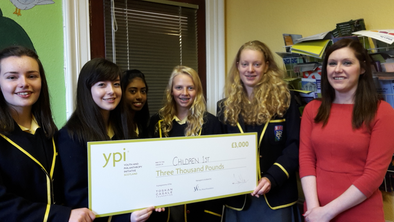 Girls presented the cheque last week