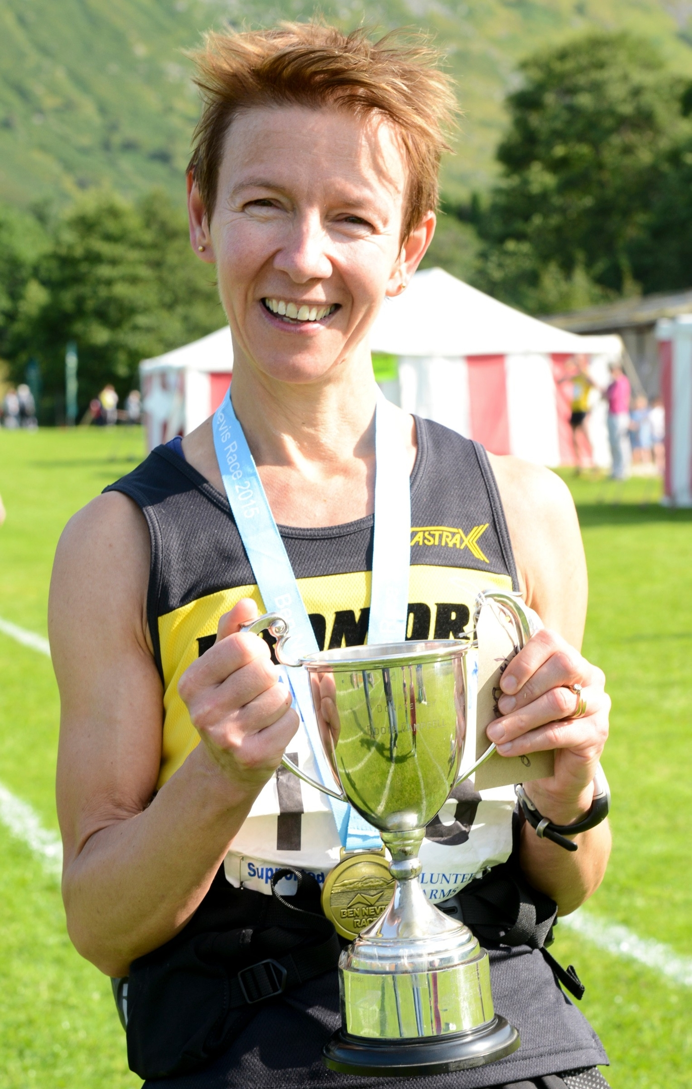 Diane Wilson of Dromore a.c  County Down is 2015 Womans winner of the Ben Nevis Race