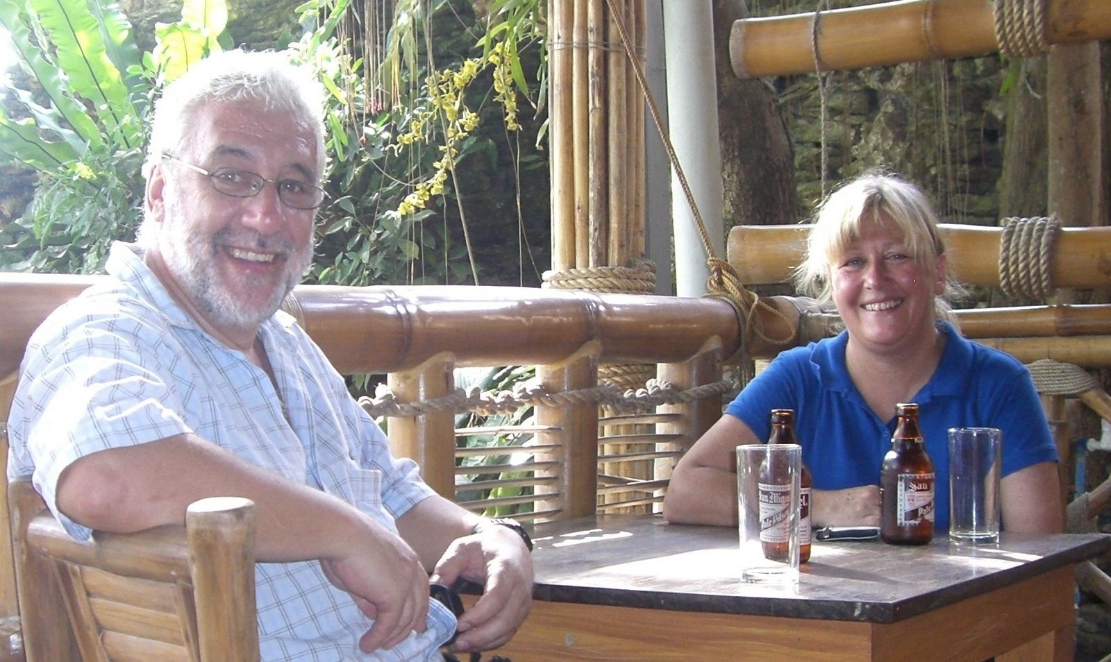 Dr Bill Murdoch and Debbie Gourlay in Malawi