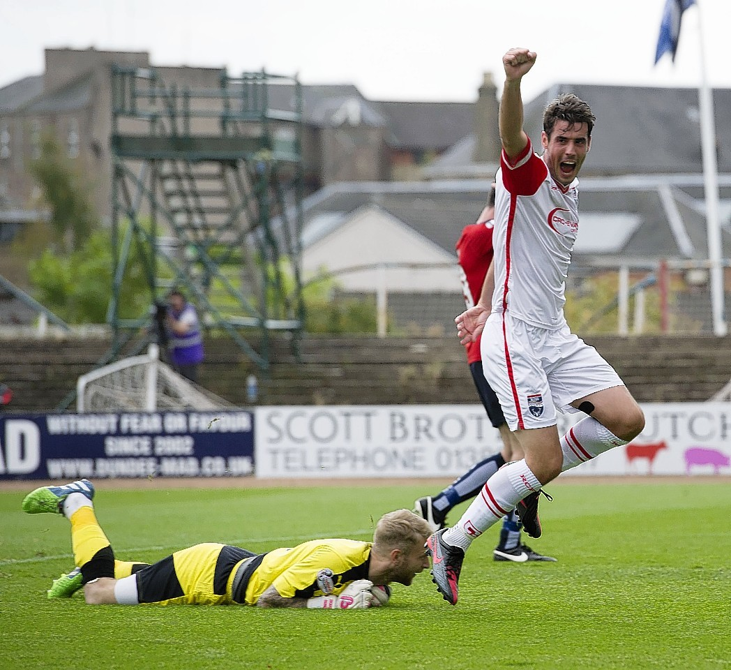 Brian Graham scored in the 3-3 draw against Dundee last season.