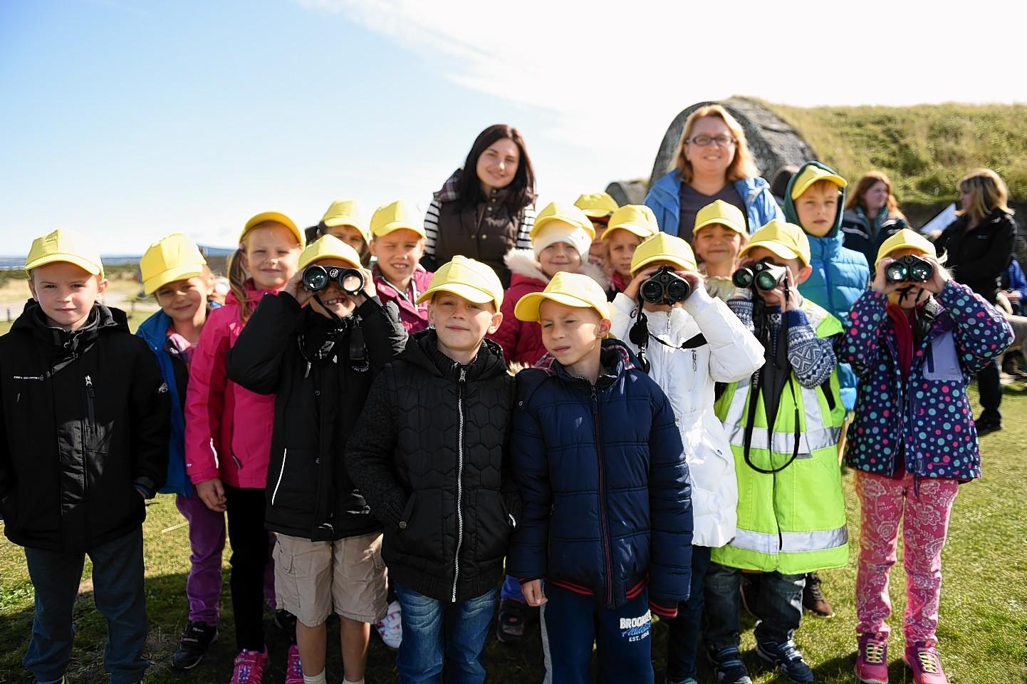 Children from Chernobyl visit Moray. Picture by Gordon Lennox
