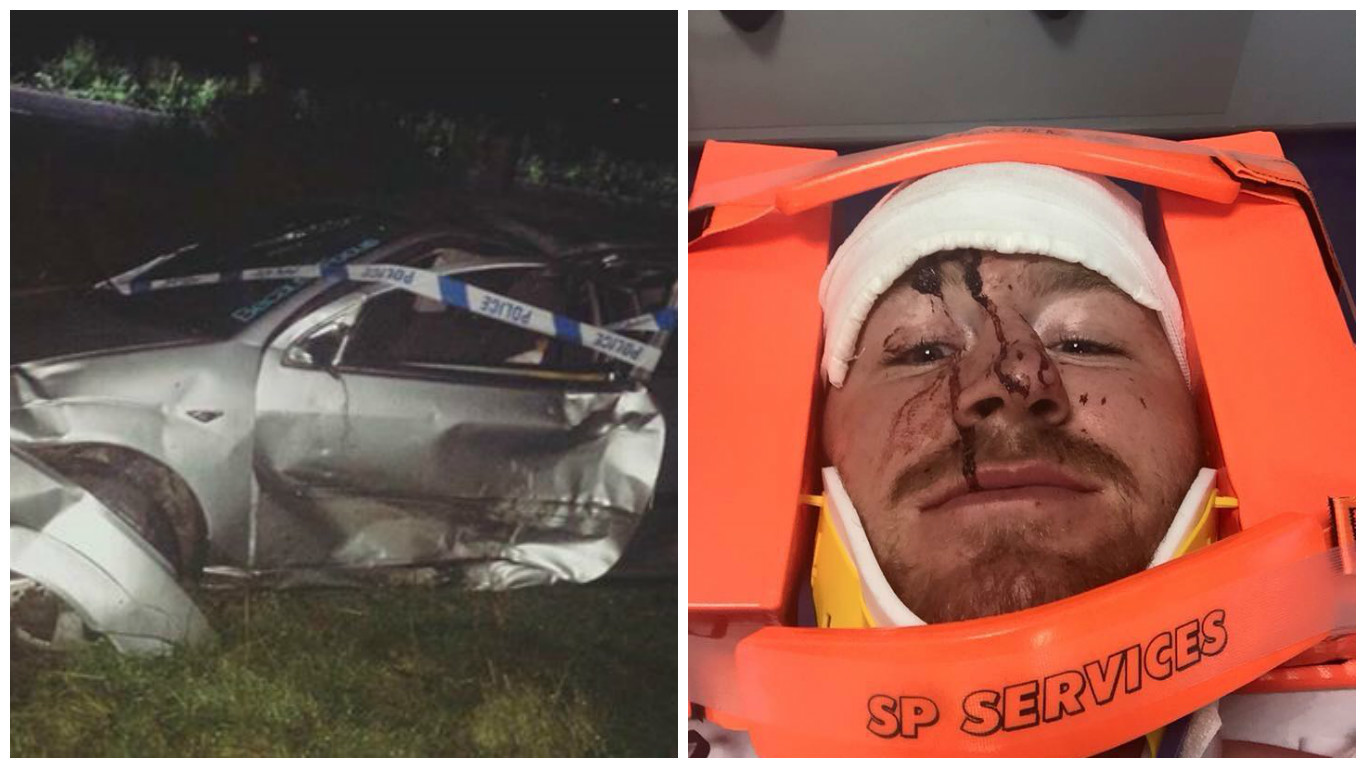 Christopher Boyle was involved in a thee-vehicle smash on the B979