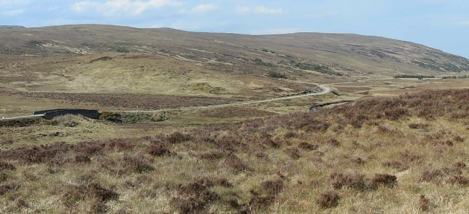 The area where the Creag Riabhach windfarm could be built