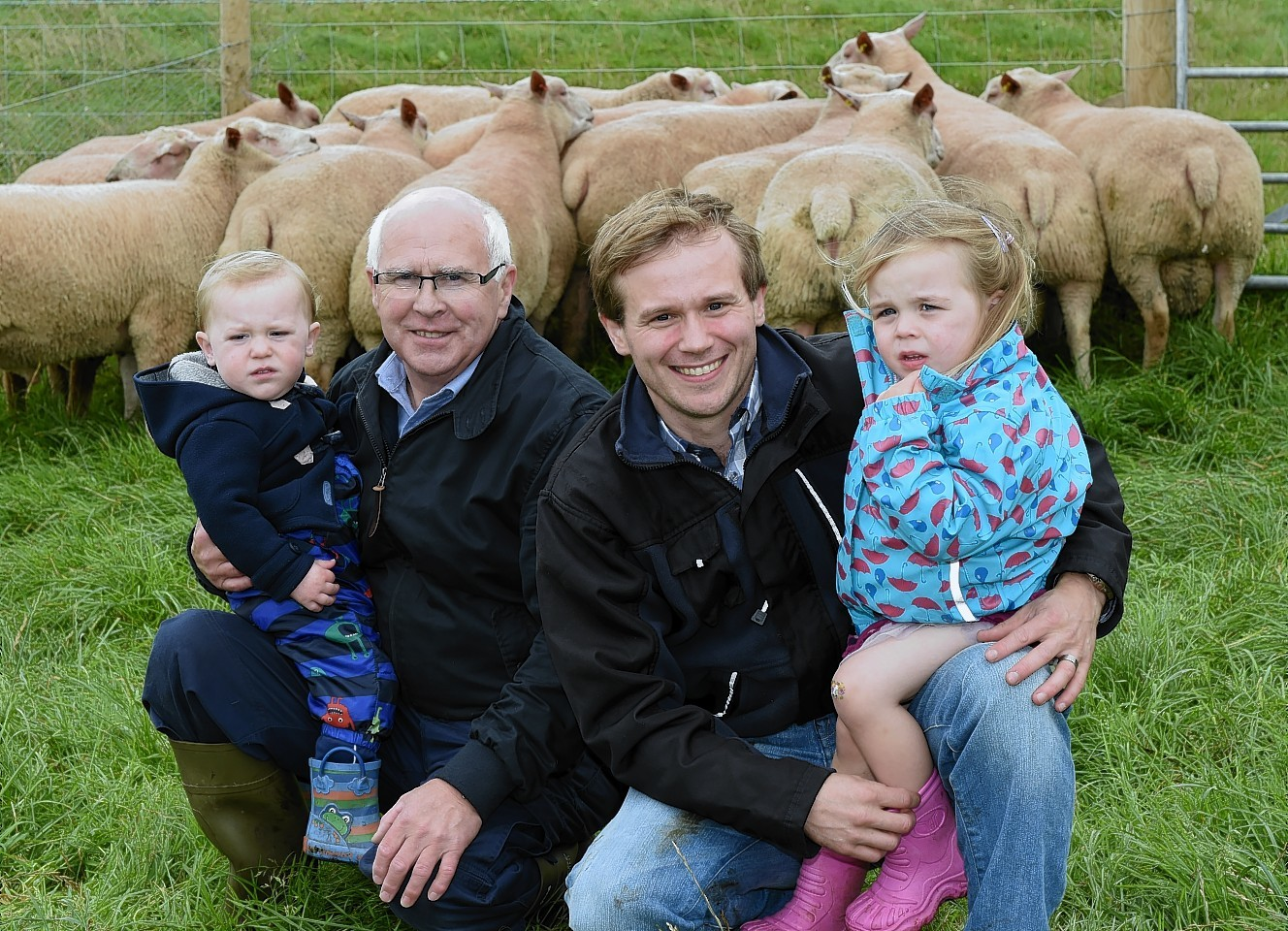 Howard and Andrew Davies (left to right) with Andrew's children Ryan and Ailsa