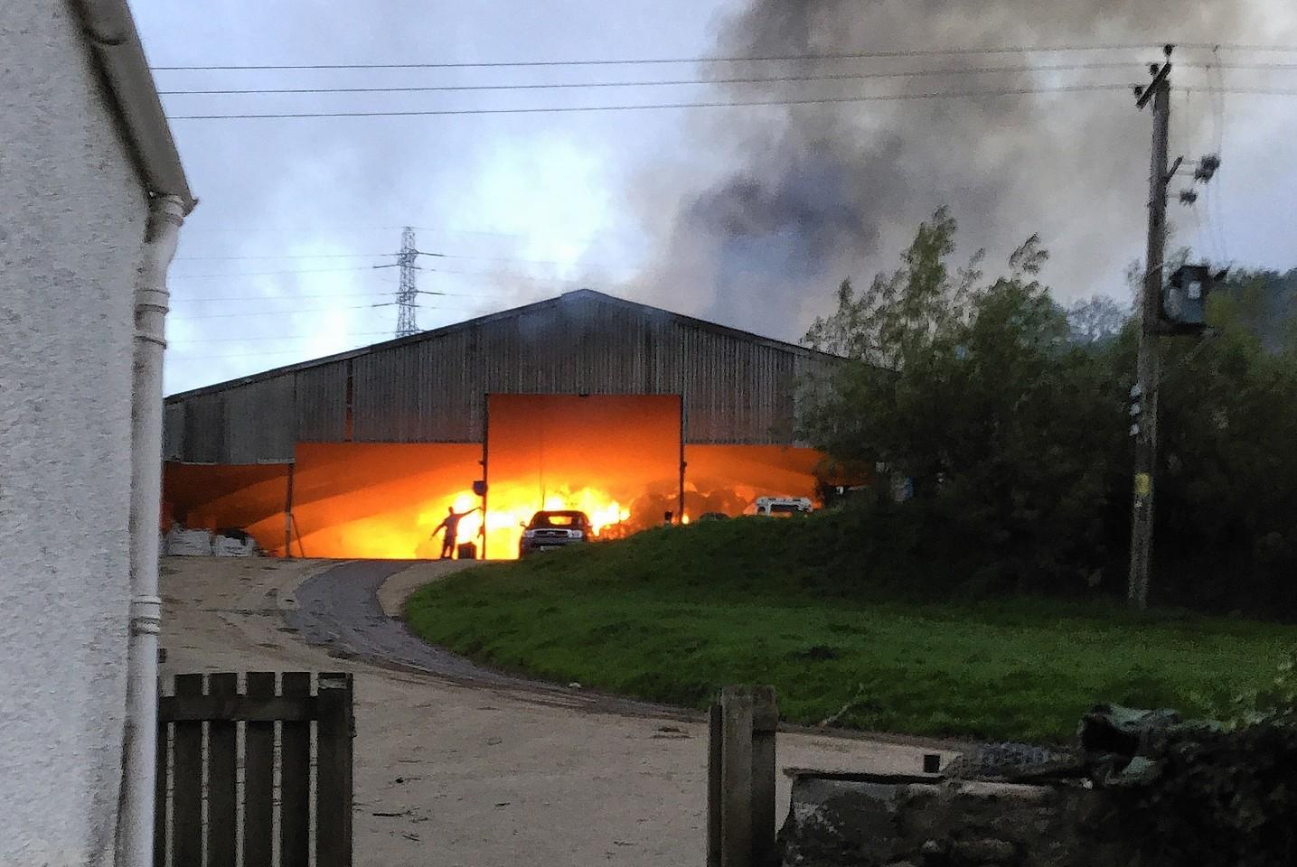 The scene of the fire Drynie Farm near Dingwall