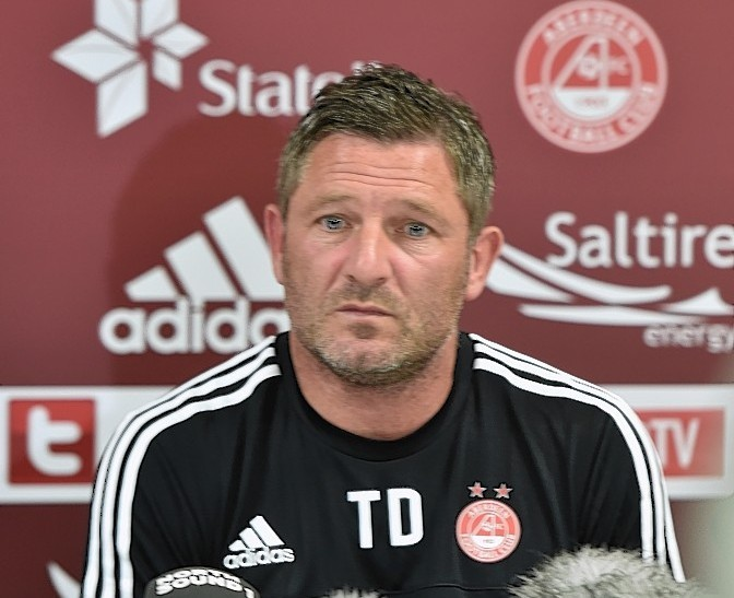 Tony Docherty looks ahead to this weekend's match against Ross County.