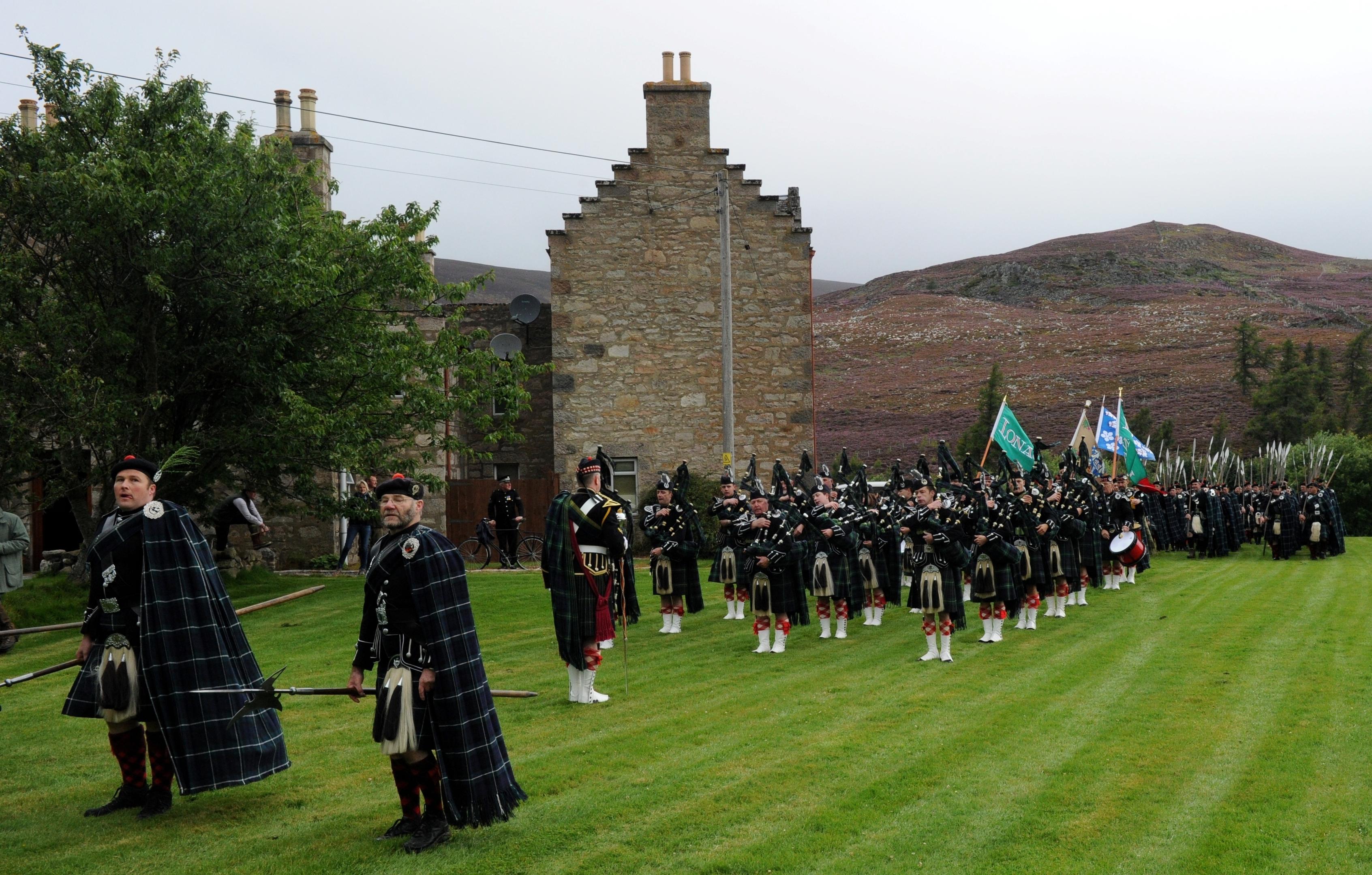A long walk for the Lonach Highlanders