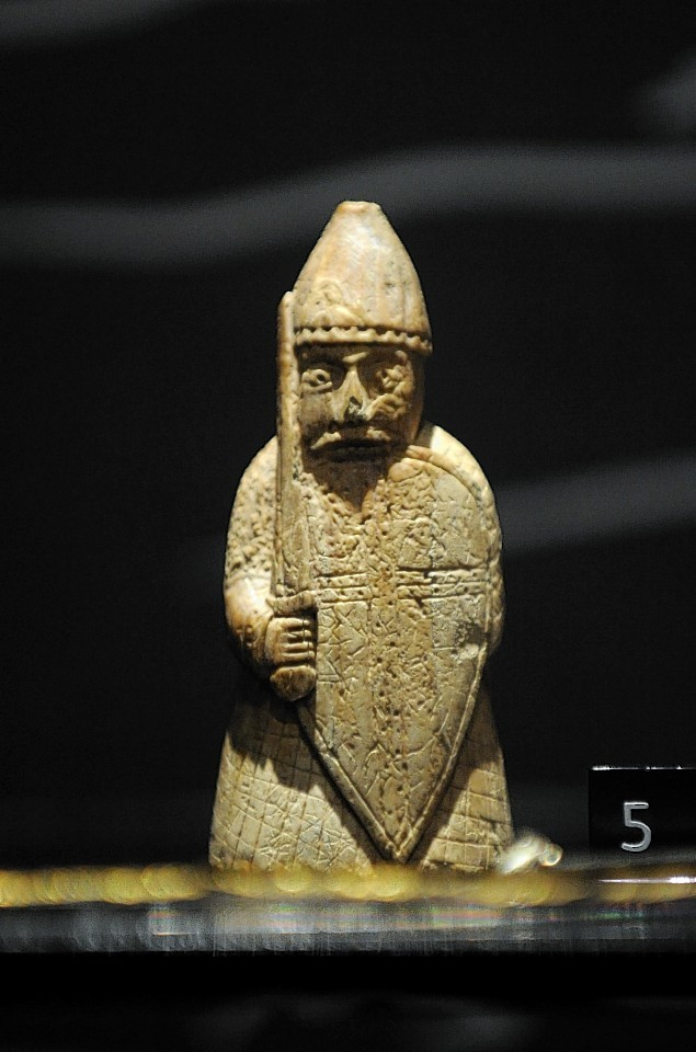 One of the Lewis Chessmen pieces