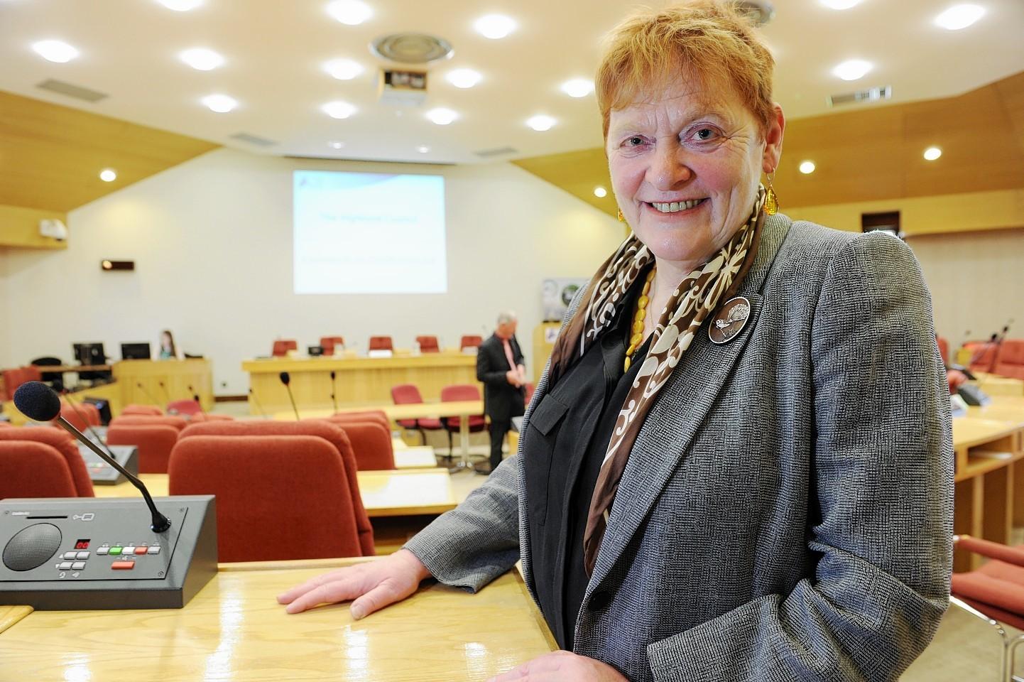 Highland Council leader Margaret Davidson.
