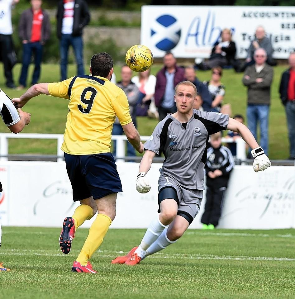 Elgin goalkeeper Mark Hurst