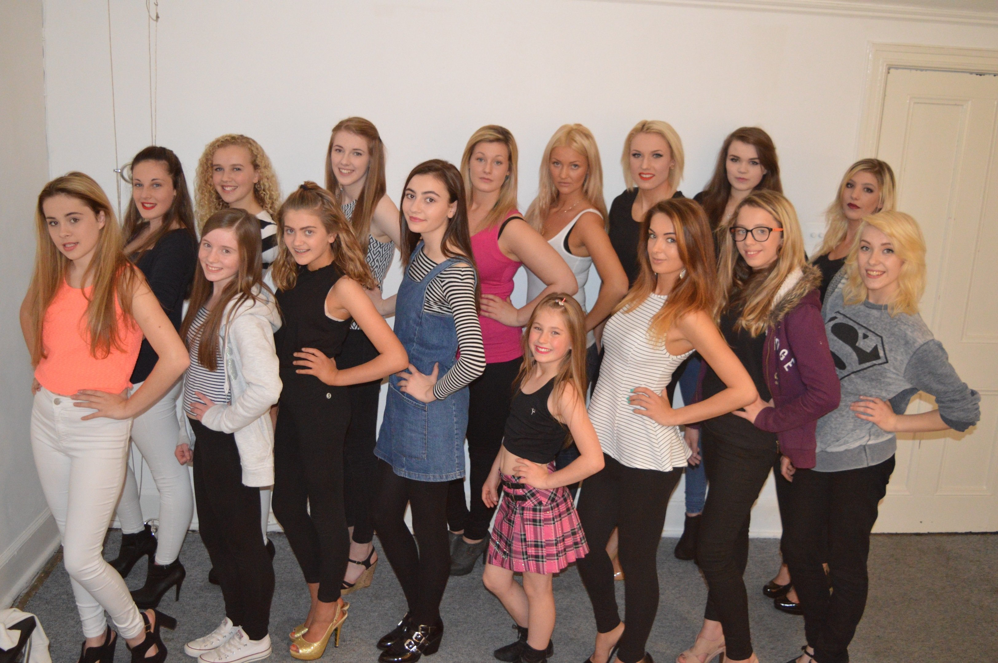 Some of the prospective models at Highland Fashion Week