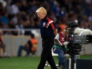 Scotland manager Gordon Strachan saw his side suffer a 1-0 defeat at the hands of Georgia