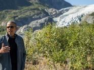 President Barack Obama on a hike to the Exit Glacier in Alaska (AP)