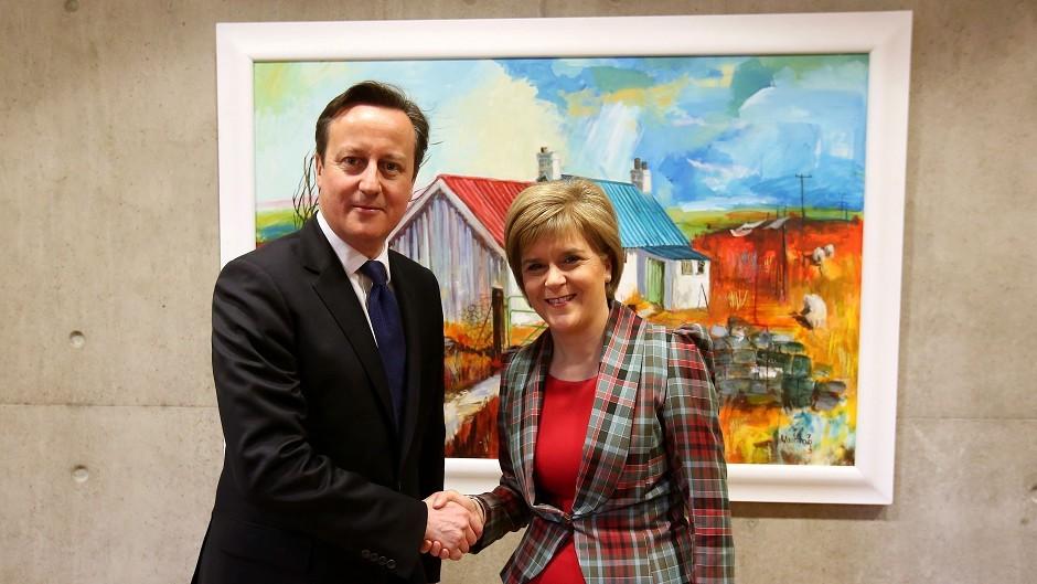 Nicola Sturgeon called on David Cameron to guarantee the permanence of Holyrood