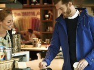 The contactless jacket from Lyle & Scott, which can house a bPay contactless payment chip (Barclaycard/PA)