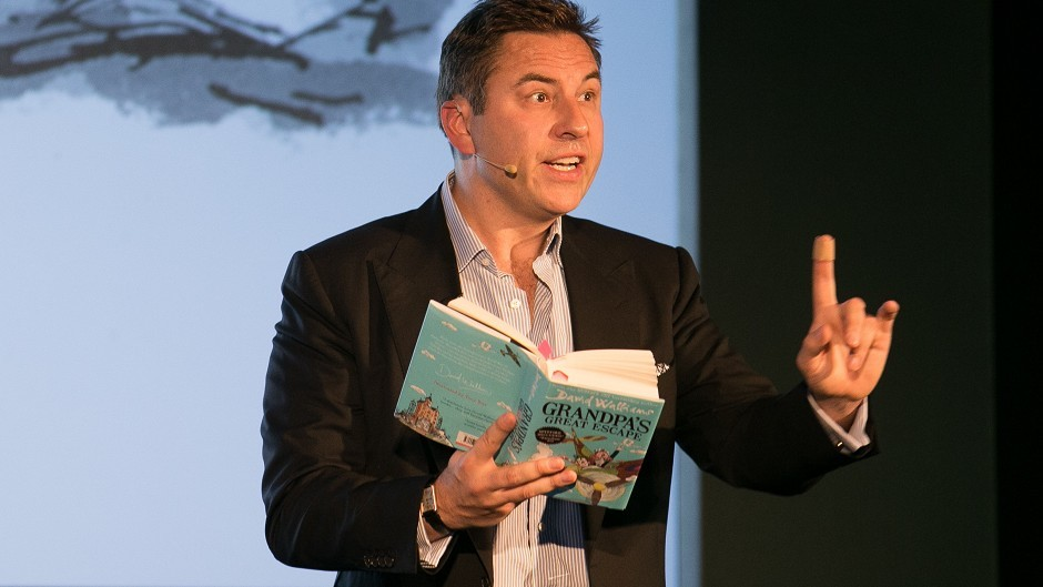 David Walliams reads from his book Grandpa's Great Escape