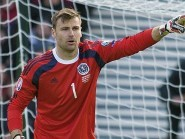 Scotland goalkeeper David Marshall made a fine second-half save