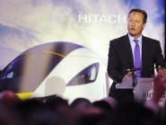 David Cameron welcomed the news that trains would be manufactured in the North East of England once more