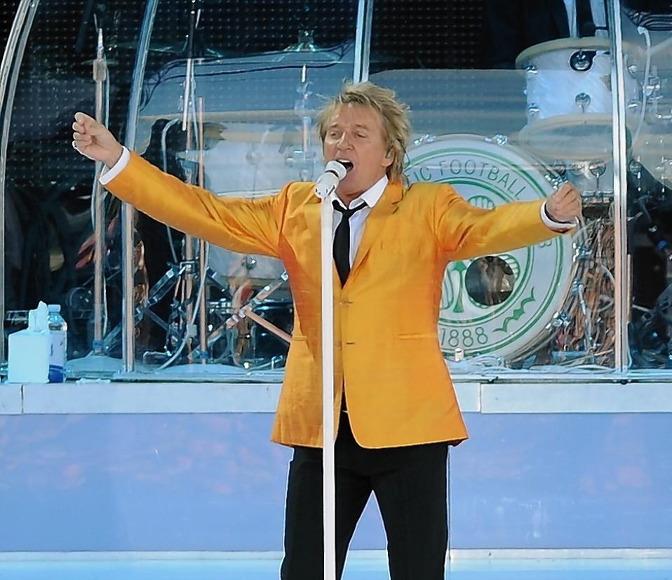 Rod Stewart during his 2010 gig at Caley Stadium