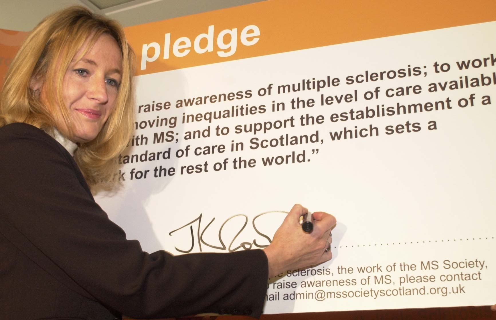 Author JK Rowling in her role as patron of the MS society Scotland at the opening of the Stuart resource centre in Aberdeen.