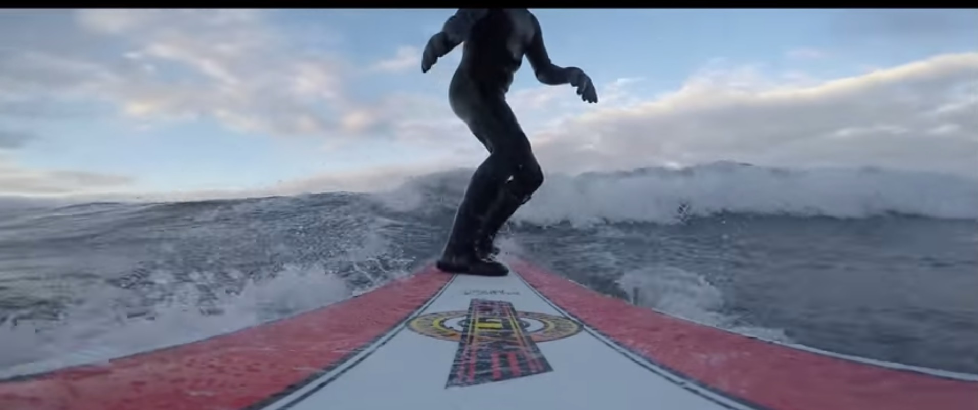 Cold but fun Surfing