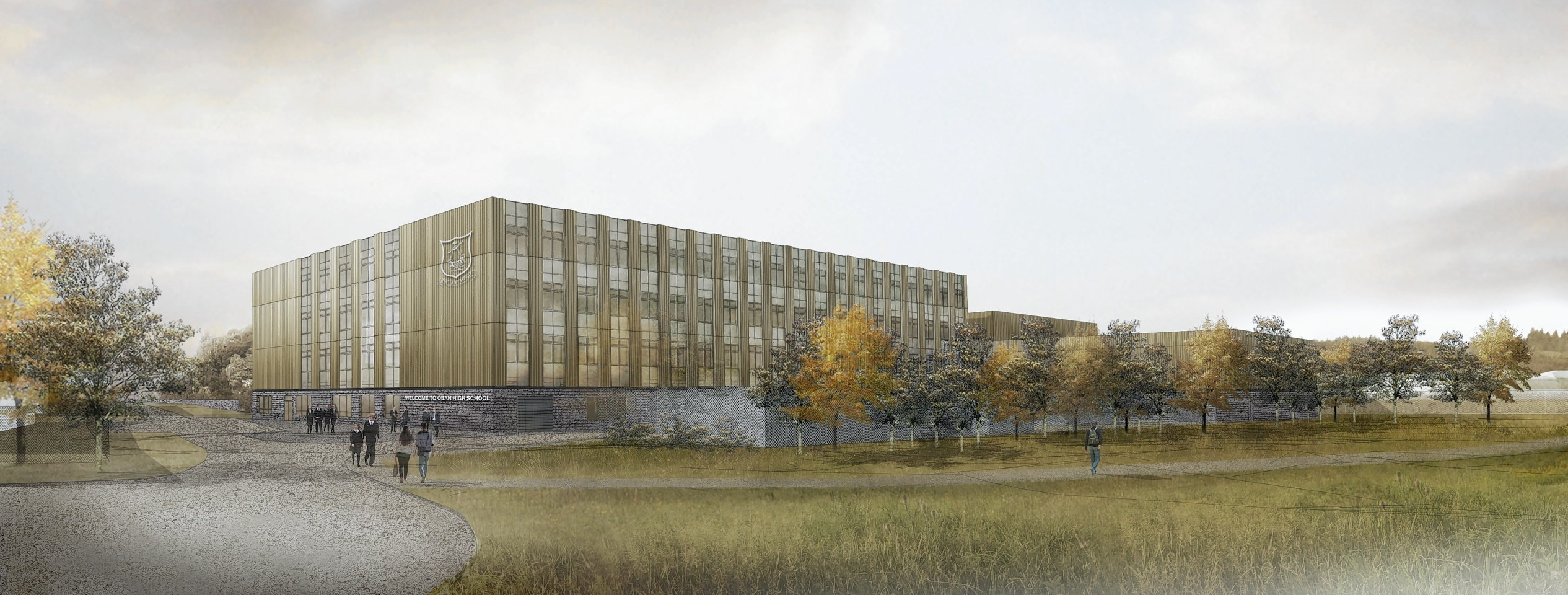 Artist impression of the new Oban High School