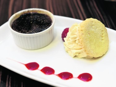 Raspberry and Dark Chocolate Brulee