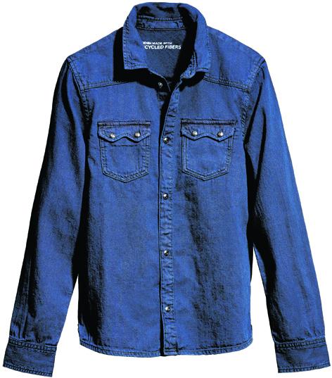 H&M Close the Loop collection denim shirt, £14.99