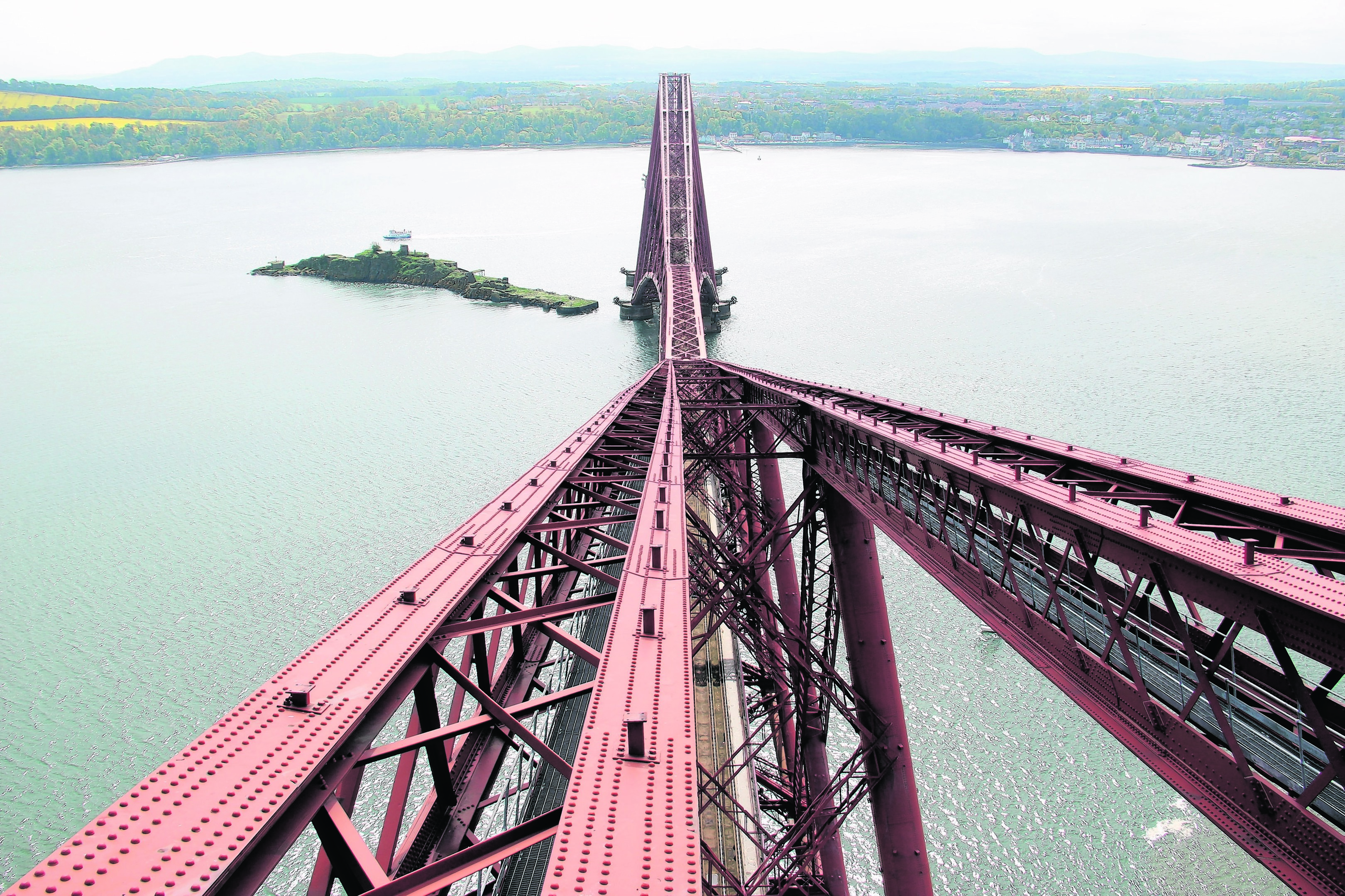Spectacular views from the top of the Forth Bridge