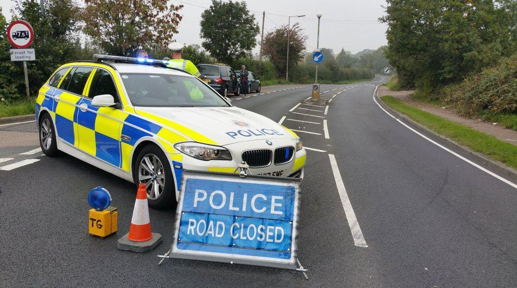 A number of roads have been closed off near the scene