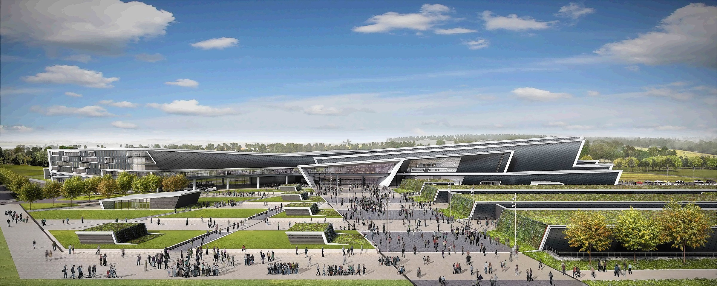 Artist impression of the planned new AECC for Bucksburn.