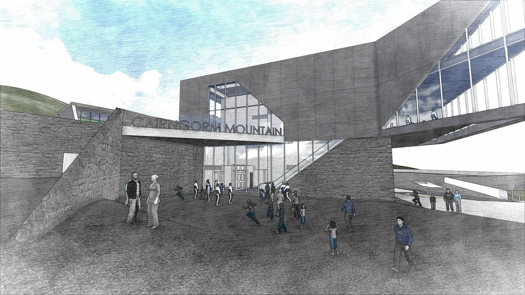 Artist impressions of plans for the Cairngorms snowsports centre