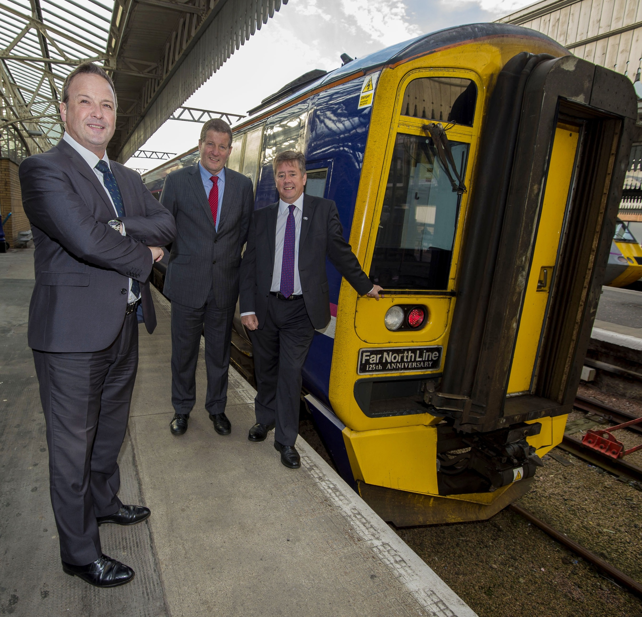 Infrastructure secretary Keith Brown MSP announces BAM as principal contractor for the £170m upgrade of the Aberdeen-Inverness line.